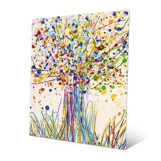 'Splatter Tree I' Wall Art Print on Metal