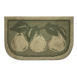 "Structures Bartlett Pears Textured Loop Wedge-Shaped Kitchen Slice Rug (1'5"" x 2'5"")"