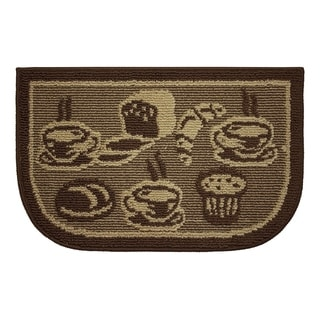 """Structures Brown Olefin Wedge-shaped French Bread Kitchen Rug (18 x 30) - 1'5"""" x 2'5"""""""