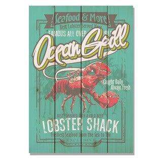 Ocean Lobster Shack 14x20 Indoor/Outdoor Full Color Cedar Wall Art