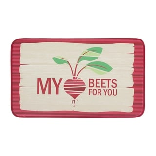 "Chef Gear Anti-Fatigue Faux Leather 18 x 30 in. My Heart Beets For You Kitchen Mat - 1'5"" x 2'5"""