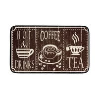 """Chef Gear Anti-Fatigue Faux Leather Hot Coffee Kitchen Mat (1'5"""" x 2'5"""")"""