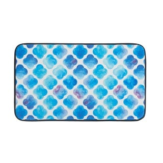 """Chef Gear Faux Leather Anti-Fatigue Watercolor Clover Kitchen Mat (1'5"""" x 2'5"""")"""