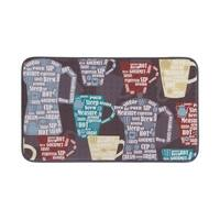 "Chef Gear Anti-Fatigue Faux Leather Fun Coffee Kitchen Mat (1'6"" x 3')"