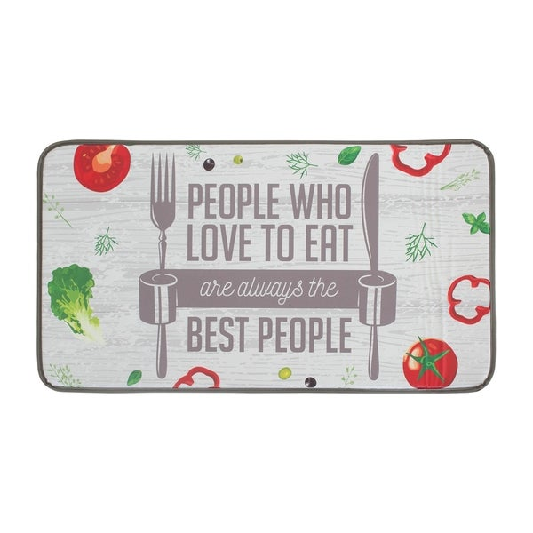 "Chef Gear Anti-Fatigue Faux Leather The Best People Kitchen Mat (1'6"" x 3')"