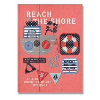 Reach The Shore 11x15 Indoor/Outdoor Full Color Cedar Wall Art