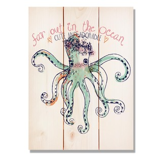 Cute The Octopus 11x15 Indoor/Outdoor Full Color Cedar Wall Art