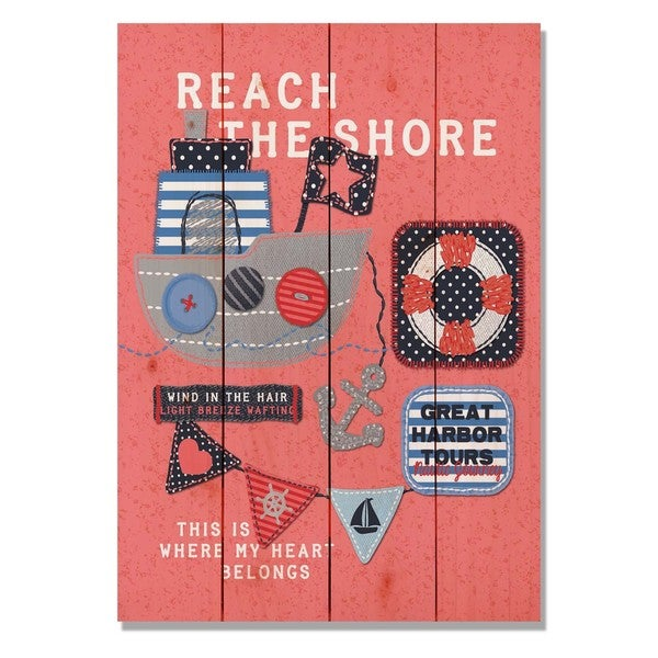 Reach The Shore 14x20 Indoor/Outdoor Full Color Cedar Wall Art