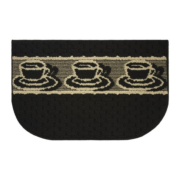 "Structures Afternoon Coffee Textured Loop Wedge Kitchen Rug - 1'5"" x 2'5"""