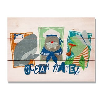 Three Ocean Mates 15x11 Indoor/Outdoor Full Color Cedar Wall Art