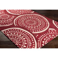 Clay Alder Home Variadero Handmade Red/ Green Abstract Area Rug (8' x 10')