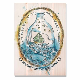 Ventures High Waves 14x20 Indoor/Outdoor Full Color Cedar Wall Art