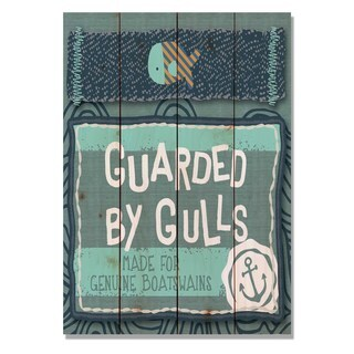 Guarded By Gulls 14x20 Indoor/Outdoor Full Color Cedar Wall Art
