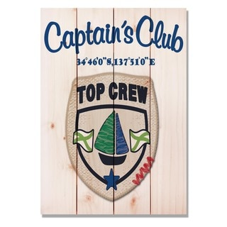 Captain's Club Crew 14x20 Indoor/Outdoor Full Color Cedar Wall Art