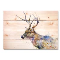 Whitetail 14x20 Indoor/Outdoor Full Color Cedar Wall Art