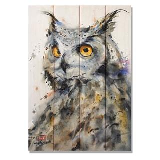 Sig Series The Watcher 14x20 Indoor/Outdoor Full Color Cedar Wall Art