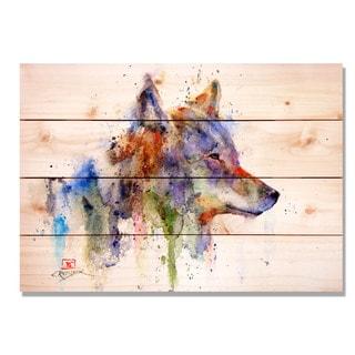 Sig Series The Coyote 14x20 Indoor/Outdoor Full Color Cedar Wall Art