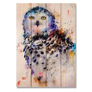 Sig Series Snowy Owl 14x20 Indoor/Outdoor Full Color Cedar Wall Art