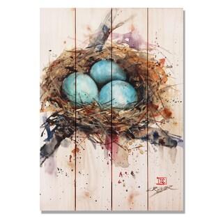 Sig Series Robins Nest 14x20 Indoor/Outdoor Full Color Cedar Wall Art