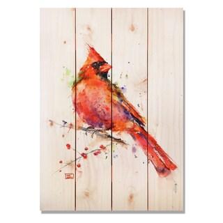 Sig Series Red Cardinal 14x20 Indoor/Outdoor Full Color Cedar Wall Art