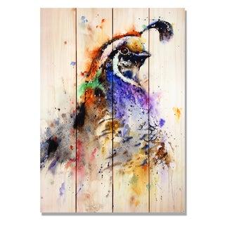 Sig Series - Quail 14x20 Indoor/Outdoor Full Color Cedar Wall Art