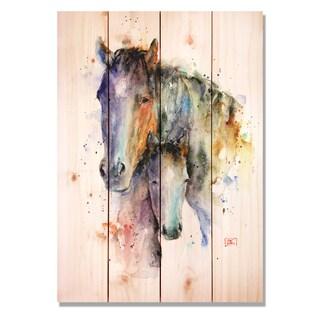 Sig Series Mare & Foal 20x14 Indoor/Outdoor Full Color Cedar Wall Art