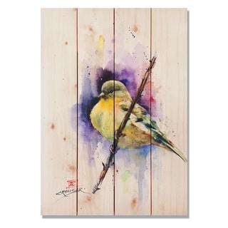 Sig Series Gold Finch 14x20 Indoor/Outdoor Full Color Cedar Wall Art