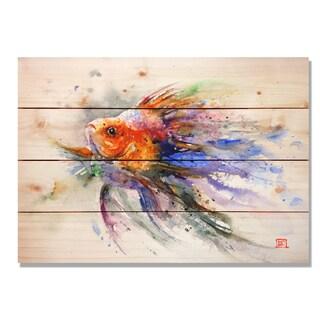 Sig Series Goldfish 20x14 Indoor/Outdoor Full Color Cedar Wall Art