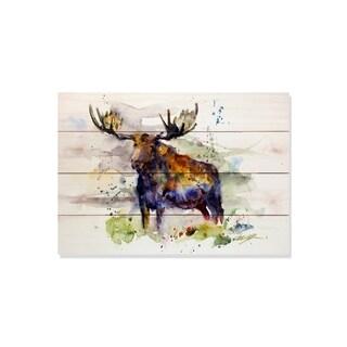 Sig Series Colorful Moose 20x14 Indoor/Outdoor Full Color Cedar Wall Art
