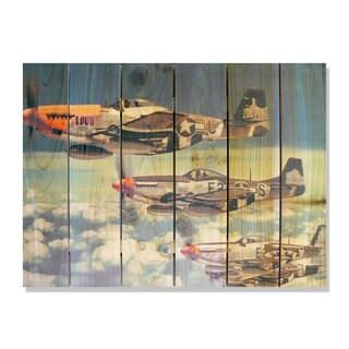 P51 33x24 Indoor/Outdoor Full Color Cedar Wall Art