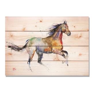 Sig Series Free Spirit 20x14 Indoor/Outdoor Full Color Cedar Wall Art