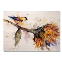 Sig Series Bird & Sunflower 20x14 Indoor/Outdoor Full Color Cedar Wall Art