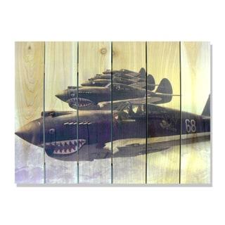 P40 Warhawks 33x24 Indoor/Outdoor Full Color Cedar Wall Art
