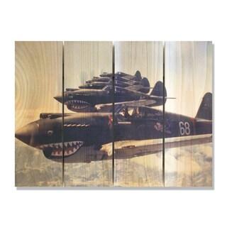 P40 Warhawks 22x16 Indoor/Outdoor Full Color Cedar Wall Art