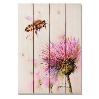 Sig Series Bee & Clover 14x20 Indoor/Outdoor Full Color Cedar Wall Art