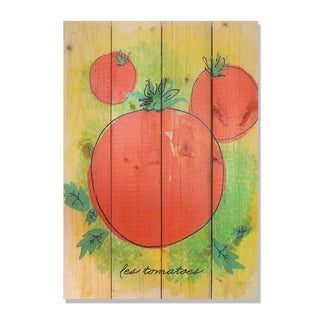 Le Tomato 14x20 Indoor/Outdoor Full Color Cedar Wall Art