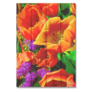 Full Bloom 14x20 Indoor/Outdoor Full Color Cedar Wall Art