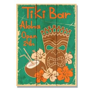 Tiki Bar 11x15 Indoor/Outdoor Full Color Cedar Wall Art