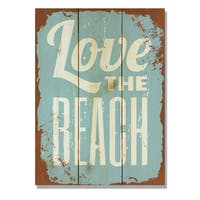 Love the Beach 11x15  Indoor/Outdoor Full Color Cedar Wall Art