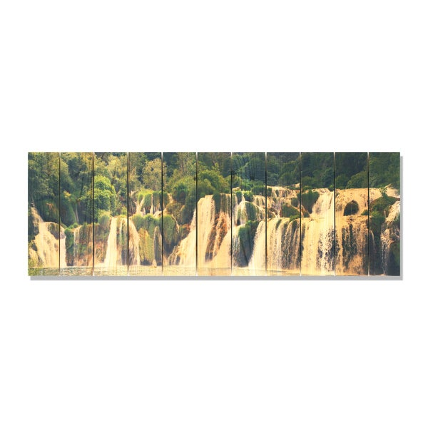 Free Fall 60x20 Indoor/Outdoor Full Color Cedar Wall Art