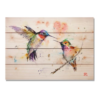Love Birds 14x20 Indoor/Outdoor Full Color Cedar Wall Art