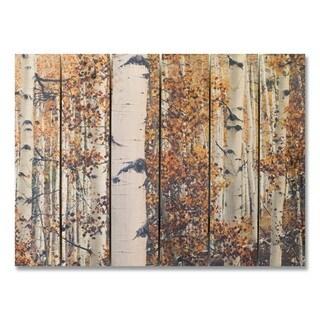 Fall Aspens 33x24 Indoor/Outdoor Full Color Cedar Wall Art