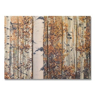 Fall Aspens 33x24 Indoor/Outdoor Full Color Cedar Wall Art