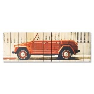 Sun Loving 60x20 Indoor/Outdoor Full Color Cedar Wall Art