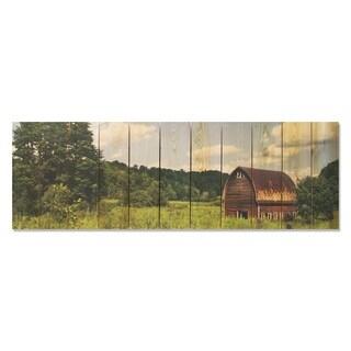 Farm Life 60x20 Indoor/Outdoor Full Color Cedar Wall Art