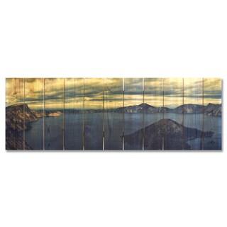 Crater Lake 60x20 Indoor/Outdoor Full Color Cedar Wall Art