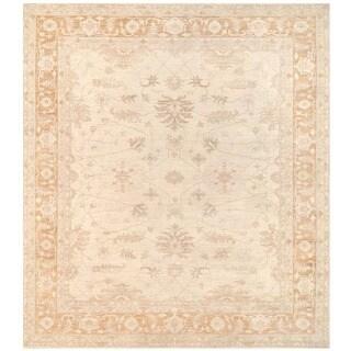 Herat Oriental Afghan Hand-knotted Vegetable Dye Oushak Wool Rug (10' x 11'3)