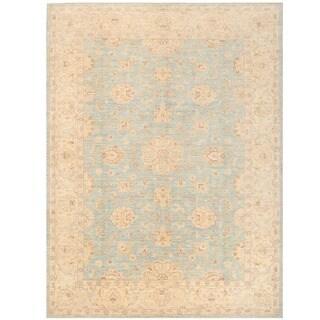 Herat Oriental Afghan Hand-knotted Vegetable Dye Oushak Wool Rug (8'11 x 12')
