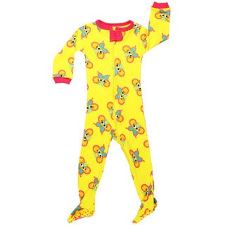 Elowel Baby Girls' Footed Butterfly Size 6 Months-5 Years Pajama Sleeper