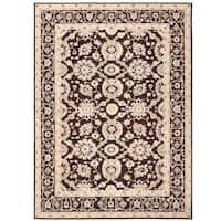 Herat Oriental Afghan Hand-knotted Vegetable Dye Oushak Wool Rug (9' x 12'2) - 9' x 12'2